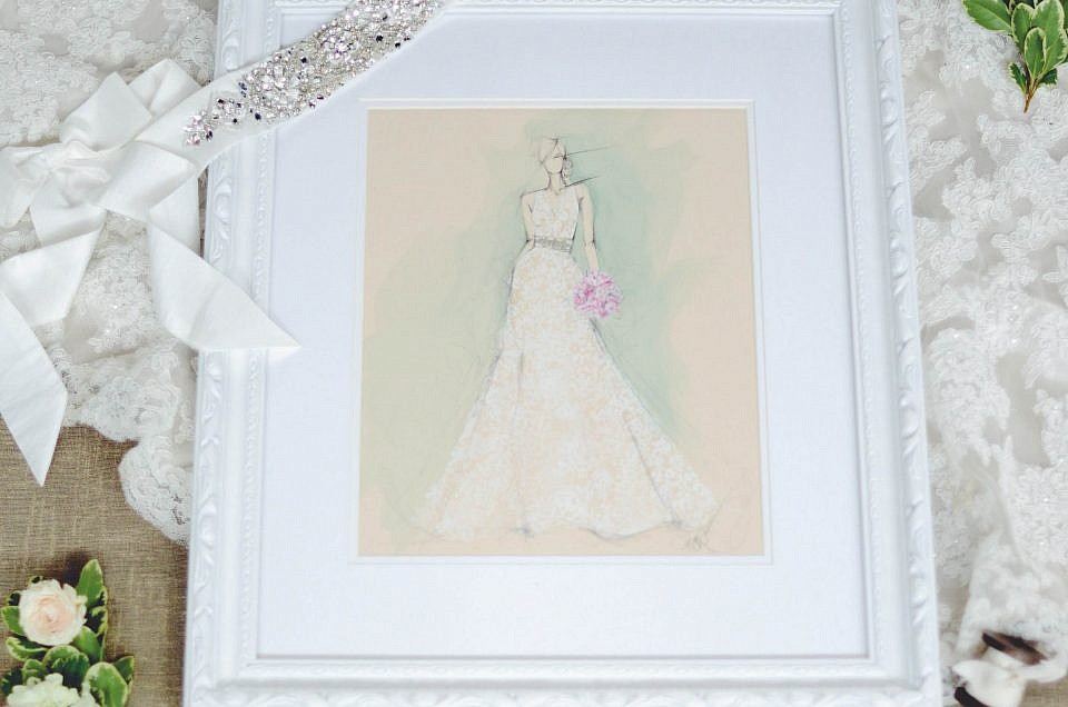 Sketch My Dress Instagram Giveaway | Kelly Muschiana Illustration