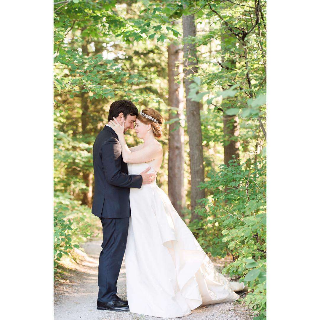 Northern Michigan Backyard Cottage Wedding