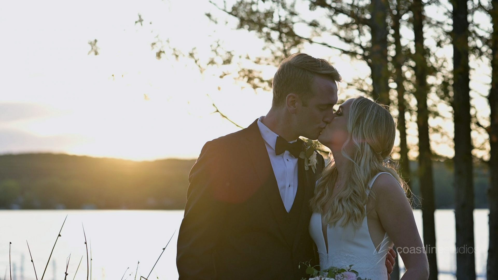 Reception on the Water at Elegant Petoskey Wedding