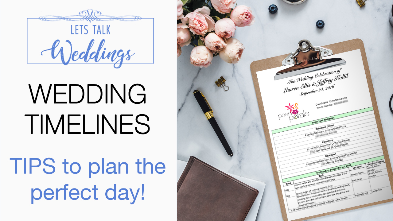 What is the Perfect Wedding Day Timeline? – Let's Talk Weddings Episode 6