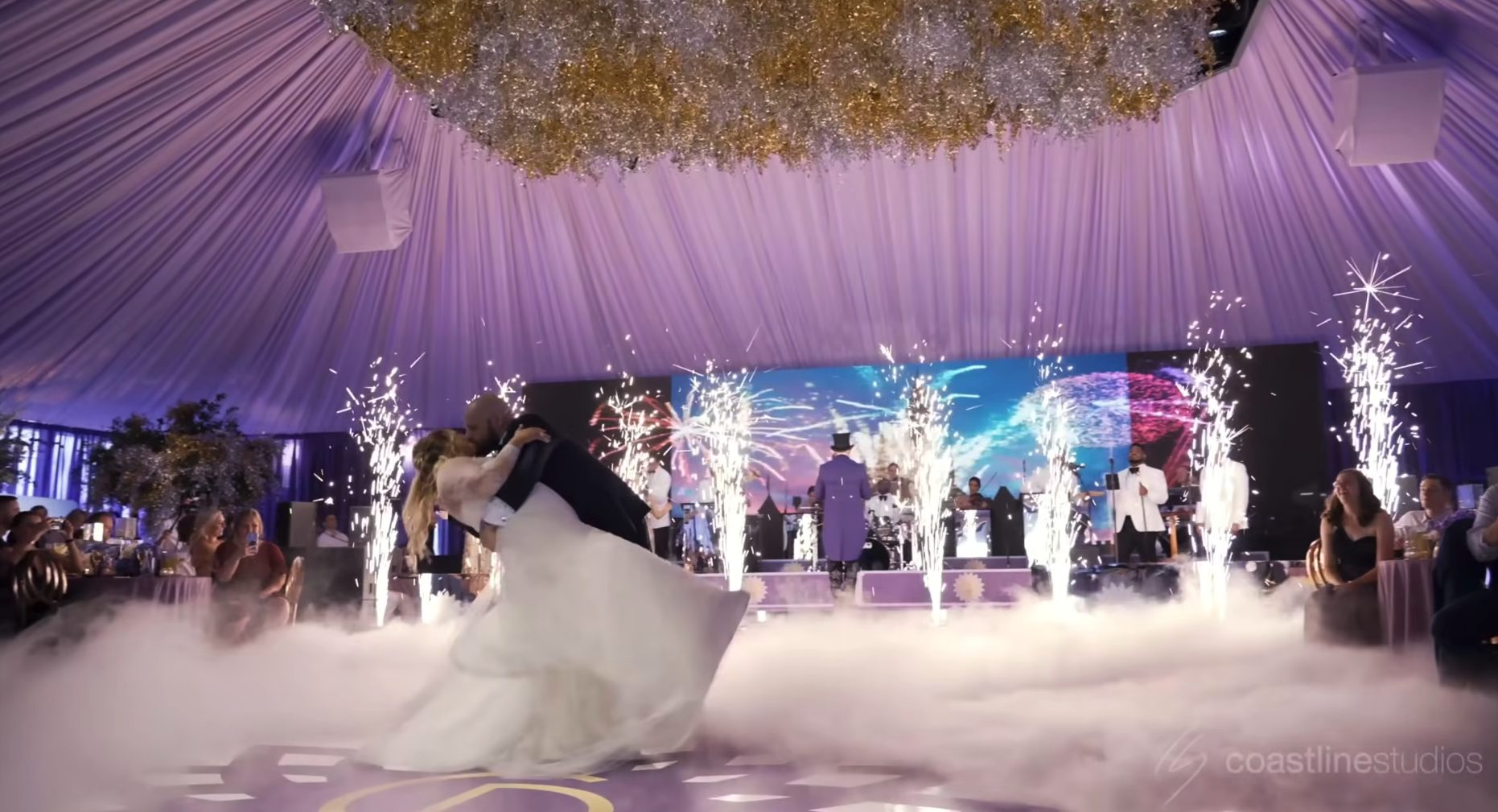 Magical Reception at Exquisite Summer Michigan Wedding